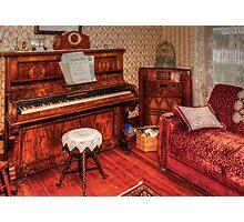 Vintage Piano Room Photographic Print