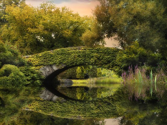 Gapstow Bridge Reflections by Jessica Jenney