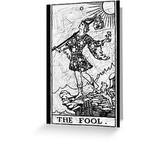 The Fool Tarot Card - Major Arcana - fortune telling - occult Greeting Card