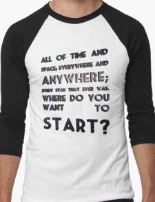 where do you want to start? Men's Baseball ¾ T-Shirt