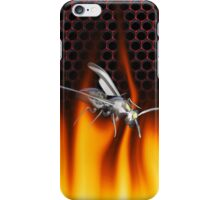 Chrome wasp and fire Design 1 iPhone Case/Skin