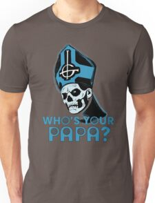 WHO'S YOUR PAPA? - light blue Unisex T-Shirt