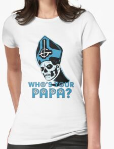 WHO'S YOUR PAPA? - light blue Womens Fitted T-Shirt