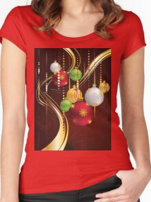 Decorative Christmas Ornaments 3 Women's Fitted Scoop T-Shirt