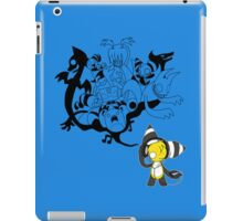 Music Demon Light Blue iPad Case (Black Outline) iPad Case/Skin