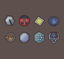 The Johto Gym Badges by zblues