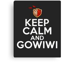 Keep Calm And GoWiWi Clash of Clans, Logo, Funny, Geek, Style  Canvas Print