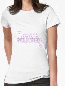 Forever a Belieber Womens Fitted T-Shirt