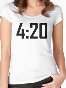 420 funny weed stoner cannabis kush  Women's Fitted Scoop T-Shirt