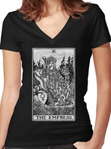 The Empress Tarot Card - Major Arcana - fortune telling - occult Women's Fitted V-Neck T-Shirt