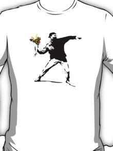 Banksy Flower Bomb Graffiti Street Art Mens T-Shirt