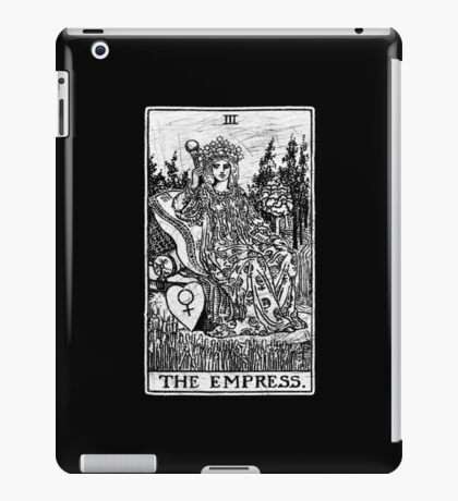 The Empress Tarot Card - Major Arcana - fortune telling - occult iPad Case/Skin