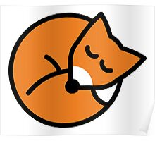Sleeping red fox Poster