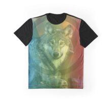 Rainbow Wolf Graphic T-Shirt