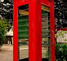 Old Red Phone Box by Andrew Turley