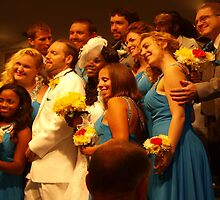 Exuberant wedding party by ♥⊱ B. Randi Bailey