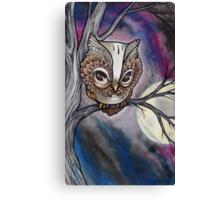 shy night owl painting. Canvas Print