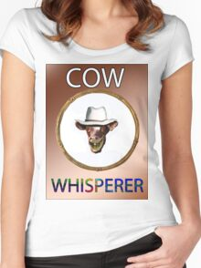 COW WHISPERER Women's Fitted Scoop T-Shirt