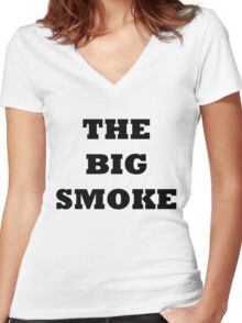 THE BIG SMOKE BELFAST Women's Fitted V-Neck T-Shirt