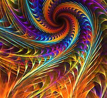 """Pinwheel Dreams"" -  Abstract Spiral Fractal Art by Leah McNeir"