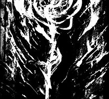 Black and White -  Raw Emotion in a Rose by RW ART