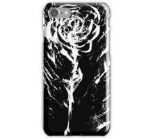 Black and White -  Raw Emotion in a Rose iPhone Case/Skin