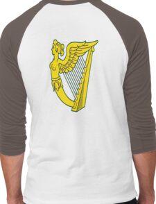 IRISH HARP IRELAND GREEN GOLD Men's Baseball ¾ T-Shirt