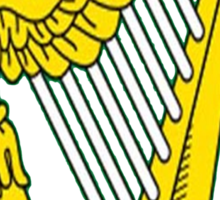 IRISH HARP IRELAND GREEN GOLD Sticker