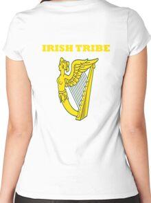 IRISH TRIBE IRELAND HARP Women's Fitted Scoop T-Shirt