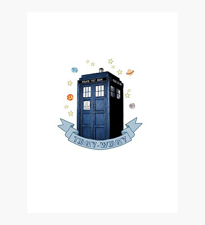timey-wimey af Photographic Print