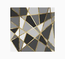 Black & Gray Modern Geo Gold Triangles Classic T-Shirt
