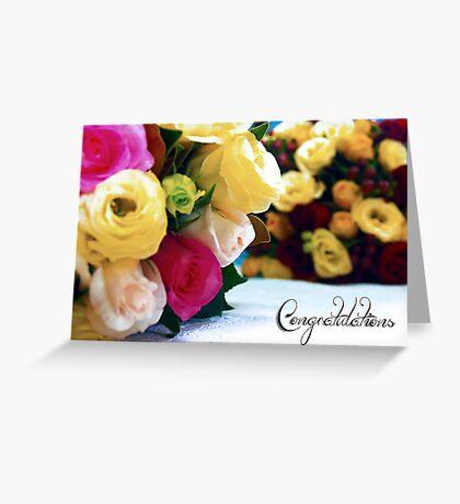 Wedding blooms Greeting Card