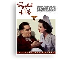 Symbol Of Life -- Army Nurse Corps WW2 Canvas Print