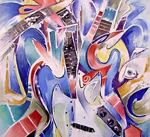 fonknjazzy (Fender Mustang guitar, abstracted) by Franko Camue