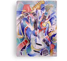 fonknjazzy (Fender Mustang guitar, abstracted) Canvas Print