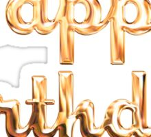 Happy Birthday Gold Letters Sticker