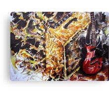 """Let there be Rock!"" (Fender E-Guitar & Fender Bassman Amp) Canvas Print"