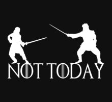 Arya Stark Not Today Death Syrio Forel White by Alessandro Tamagni
