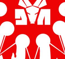 Die Antwoord Ninja Star (Red Version) Sticker