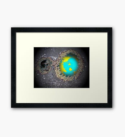 Relecting on our world Framed Print