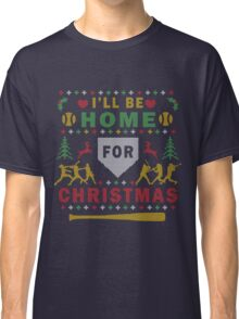 Softball Ugly Christmas Party Sweater Digital Art Classic T-Shirt