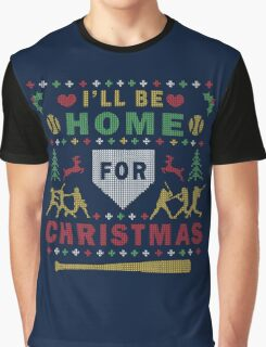 Softball Ugly Christmas Party Sweater Digital Art Graphic T-Shirt
