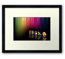 New Zealand Story pixel art Framed Print