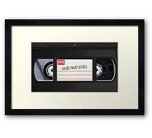 VHS and Chill Framed Print
