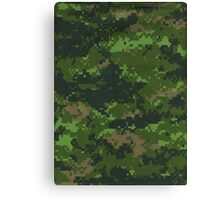 Digital Green Camouflage Canvas Print