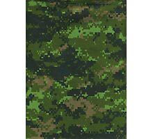 Digital Green Camouflage Photographic Print