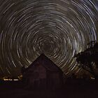 Startrail - Church - Lightning Ridge - NSW by Frank Moroni