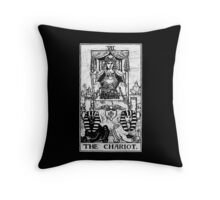 The Chariot Tarot Card - Major Arcana - fortune telling - occult Throw Pillow