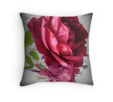 Red Rose in Reflection  - Mr. Lincoln, living Beauty  -Spring, 2009 Throw Pillow