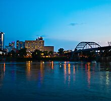 Broadway Bridge at Twilight by Lisa G. Putman